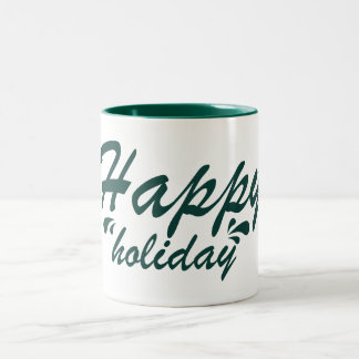 Happy holiday mug