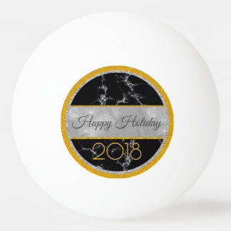 Happy Holiday -New Year's 2018- Custom Your Words Ping Pong Ball