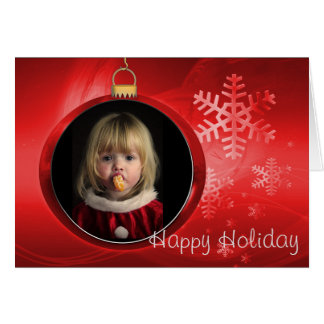 Happy Holiday Photo Frame Greeting Card