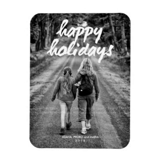 Happy Holiday Refrigerator Magnets Picture Family