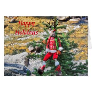 Happy Holiday Reindeer Greeting Card