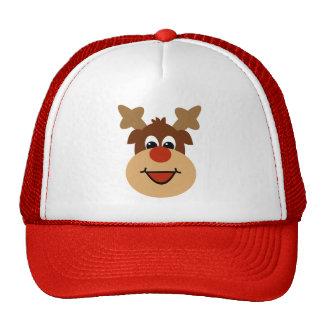 Happy Holiday Reindeer Hat