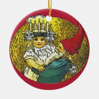 Happy Holiday, Scandinavia Ceramic Ornament