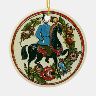 Happy Holiday, Scandinavia Horseman Ceramic Ornament