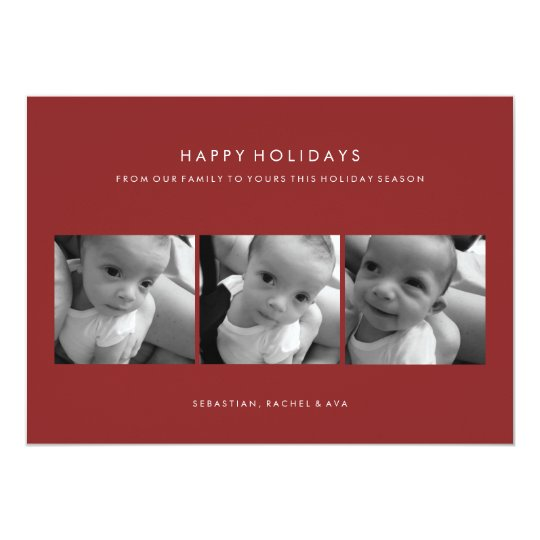 HAPPY HOLIDAY SIMPLE PHOTO CARD