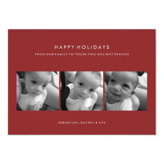 HAPPY HOLIDAY SIMPLE PHOTO CARD 13 CM X 18 CM INVITATION CARD