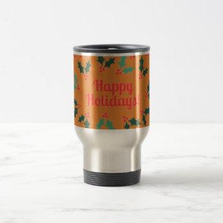 happy holiday travel mug
