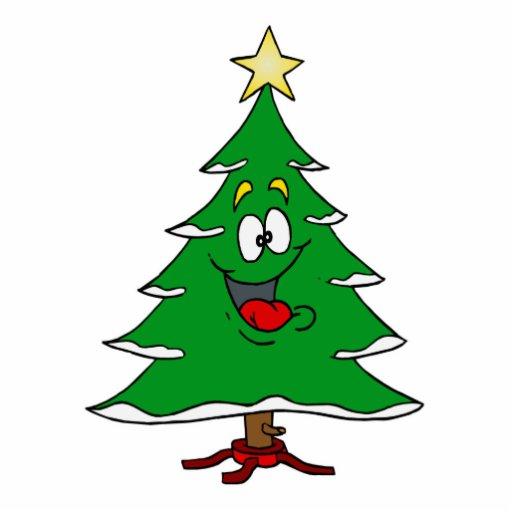 Happy Holiday Tree Photo Cutouts