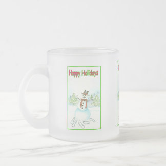 Happy Holiday With Snowman Holiday Mug