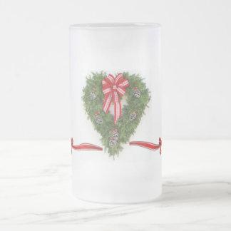 Happy Holiday wreath Coffee Mugs