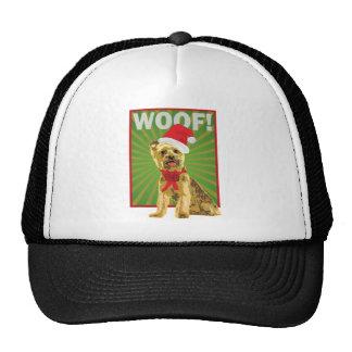 Happy Holiday Yorkie Dog Trucker Hat