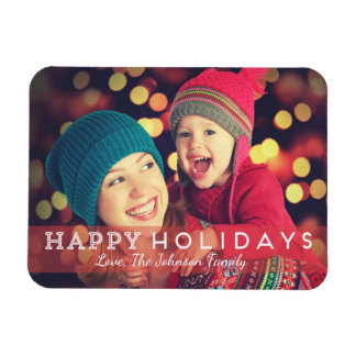 "Happy Holidays 3"" x 4"" Photo Magnet"