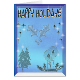 happy holidays 3D Greeting Card