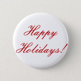 Happy Holidays! 6 Cm Round Badge