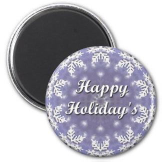 Happy Holiday's 6 Cm Round Magnet