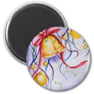 Happy holidays! 6 cm round magnet
