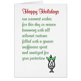 Happy Holidays - a funny holiday greetings card