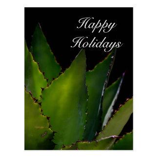 Happy Holidays Agave Postcard