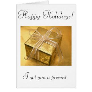 Happy holidays! (Agency greetings) Card