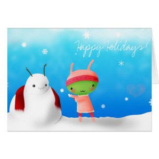 Happy Holidays! Alien 1 Card