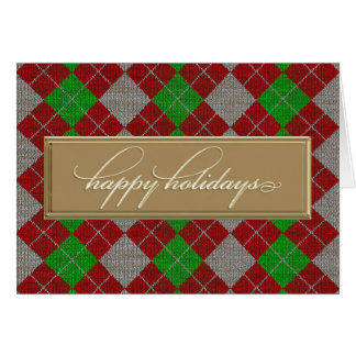 Happy Holidays Argyle Card