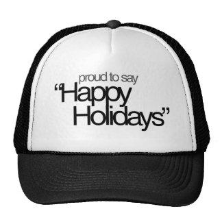 Happy Holidays Atheism Mesh Hat