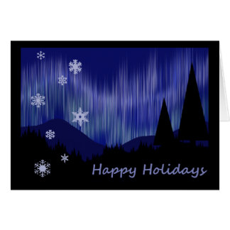 Happy Holidays - Aurora Borealis Card