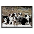 Happy Holidays Australian Shepherd Greeting Card