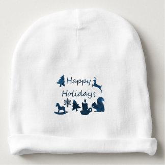 Happy holidays baby beanie