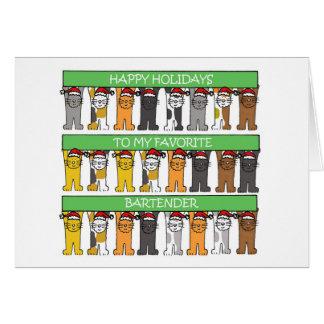 Happy Holidays Bartender Card
