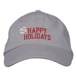 Happy Holidays Baseball Embroidered Hat