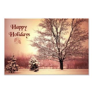 Happy Holidays beautiful winter landscape Photo