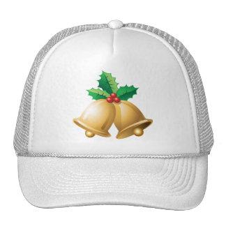 Happy Holidays Bells Mesh Hats