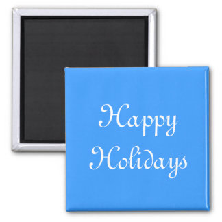 Happy Holidays. Blue and White. Festive. Magnets