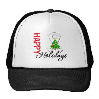 Happy Holidays Bone Cancer Awareness Hat