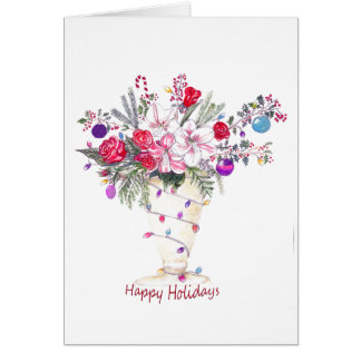 Happy Holidays Bouquet Greeting Card