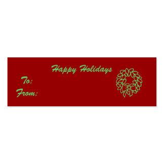 Happy Holidays Business Cards