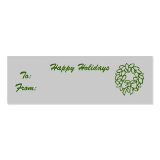 Happy Holidays Business Card Template