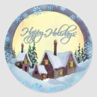 HAPPY HOLIDAYS by SHARON SHARPE Classic Round Sticker