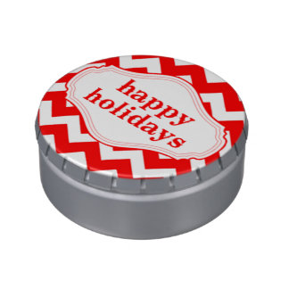 Happy Holidays Candy Cane Colors Jelly Belly Candy Tins