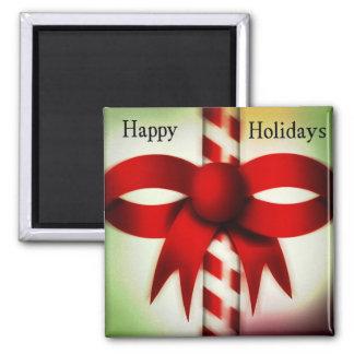 Happy Holidays Candy Cane Fridge Magnet