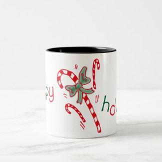 Happy Holidays Candy Canes Mug