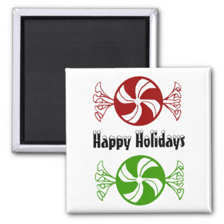 Happy Holidays candy magnet