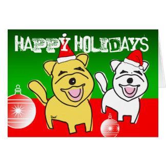 Happy Holidays Card Westie Ornaments
