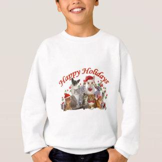 Happy Holidays Cat Apparel Sweatshirt
