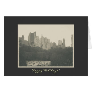 Happy Holidays - Central Park Ice Skating Rink Greeting Card