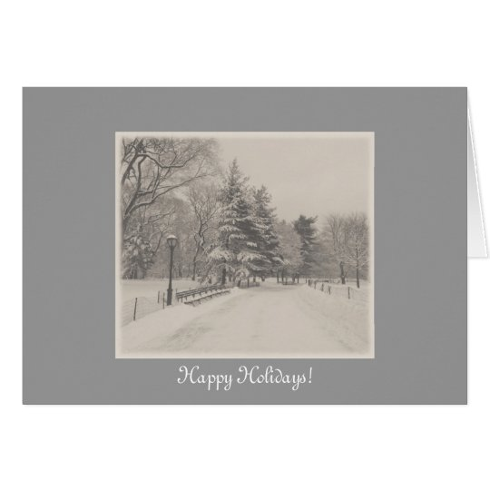 Happy Holidays - Central Park Snow Card