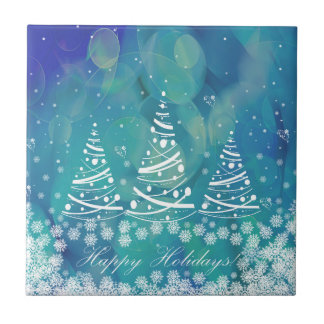 Happy Holidays Ceramic Tile