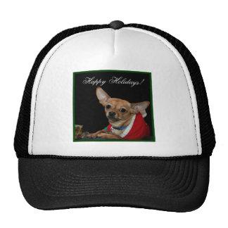 Happy Holidays Chihuahua cap