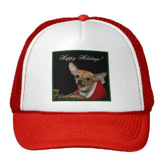 Happy Holidays Chihuahua Hats